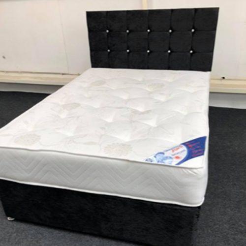 Verona Crushed Velvet Full Bed